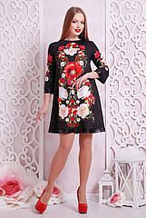 GLEM Букет маки платье Тая-3ФК д/р
