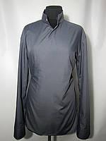 Рубашка женская темно серая на запах
