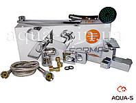 Смеситель для ванной Farma Quattro (дизайнерский) с длинным поворотным изливом 350 мм.