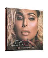 Хайлайтеры в стиле Huda Beauty 3D Highlighter Palette – Pink Sands