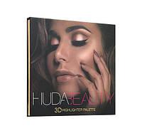 Хайлайтер Huda Beauty 3D Highlighter Palette – Golden Sands (в стиле Худа Бьюти)