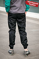 Мужские брюки джоггеры черные MAN AND WOLF коттон