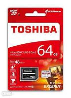 MicroSD HC (10) 64Gb +SD Toshiba U3