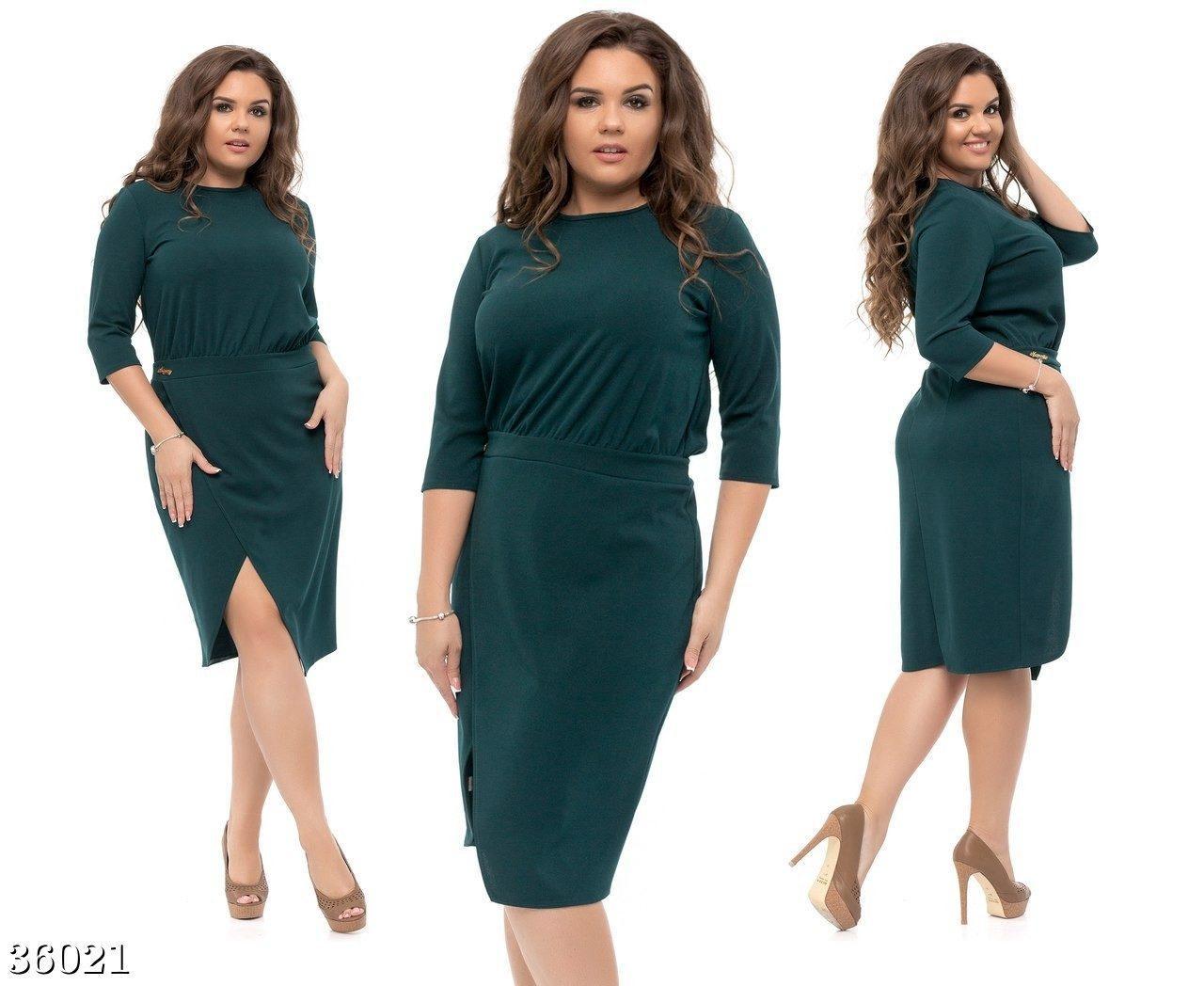 """Нежное и модное женское платье ткань """"Креп-Трикотаж"""" 48, 50, 52, 54 размер батал"""