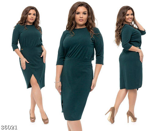 """Нежное и модное женское платье ткань """"Креп-Трикотаж"""" 48, 50, 52, 54 размер батал, фото 2"""