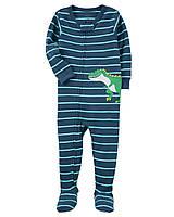 Детский синий комбинезон (человечек) Динозавр Carters Картерс для мальчика