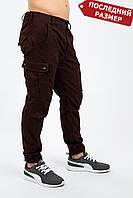 Штаны мужские милитари бордо карго  MAN AND WOLF Cargo pants cotton