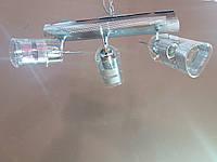 Люстра потолочная на 3 три поворотных плафона хром 1167, фото 1