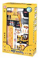Машинка Same Toy Mod-Builder Кран с пультом управления, башенный кран