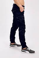 Штаны мужские  карго милитари синие MAN AND WOLF Cargo pants cotton
