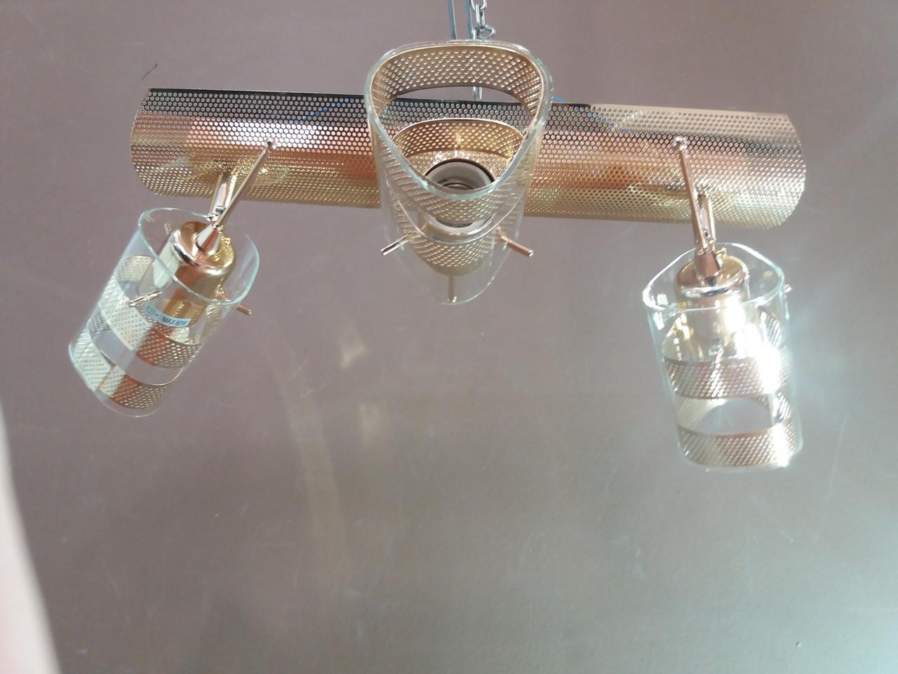Люстра потолочная на 3 три поворотных плафона 1167