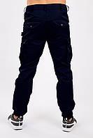 Брюки карго мужские милитари синие MAN AND WOLF Cargo pants cotton