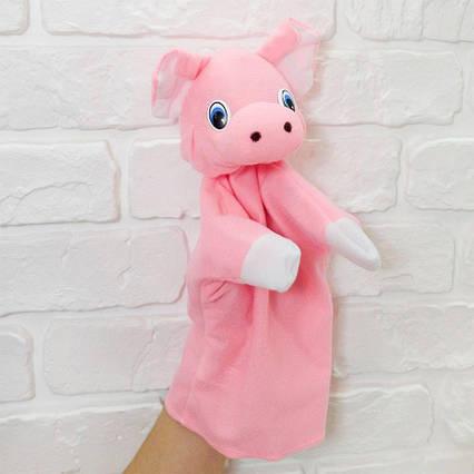 Кукла рукавичка Поросенок (кукольный театр) 28 см