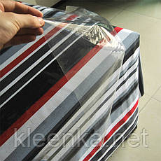 Прозрачная клеенка для защиты тканевой скатерти, деревянных столов, подоконников, фото 3