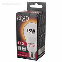 LED лампа Ergo Standard A60 Е27 15W 220V 3000K (теплый белый)