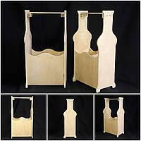 Ящик под 2 бутылки, для творчества, дерево фанера, ручн.работа, 38х22х11 см., 260/230 (цена за 1 шт. + 30 гр.)