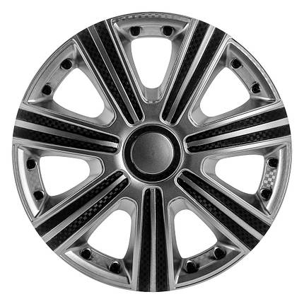 Колпаки декоративные Dtm Super Silver R-15  (карбон) Star, фото 2