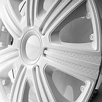 Колпаки декоративные DTM белые R-14  (карбон) STAR