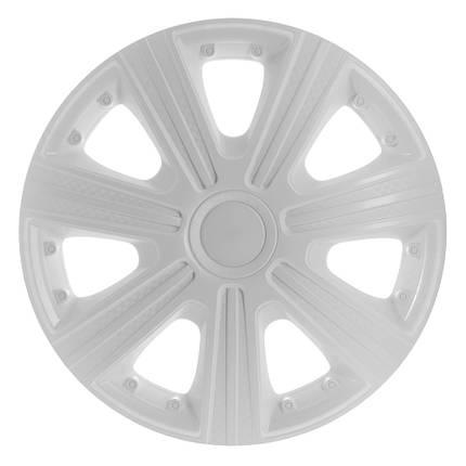 Колпаки декоративные Dtm белые R-15  (карбон) Star, фото 2