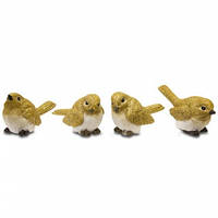 Статуэтка Птица желтая 3,5 см керамическая