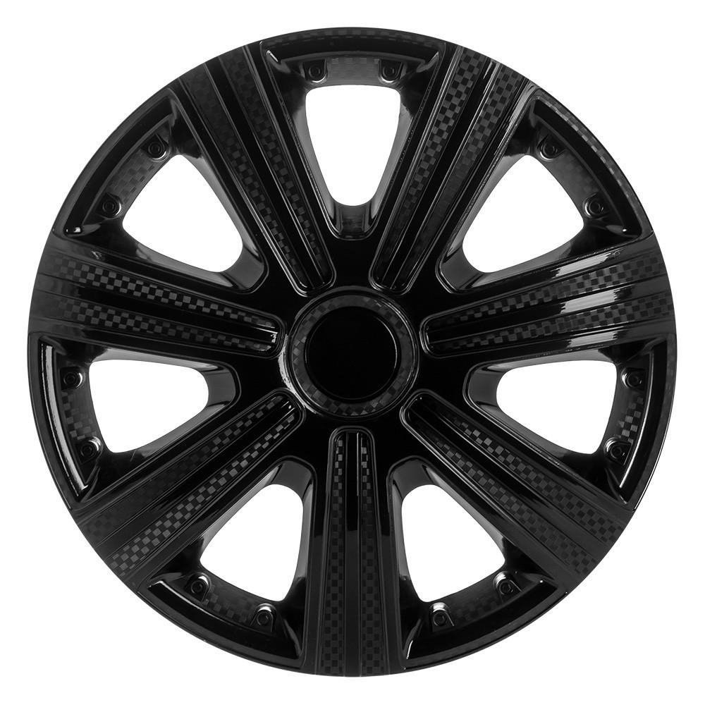 Декоративні ковпаки DTM чорні R-14 (карбон) STAR