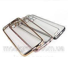 Чехол силиконовый с бампером под металик Samsung A510 (2016)