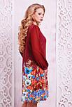 Бордовый букет платье Тана-3БФ, фото 2