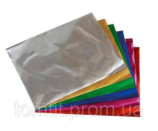 Набор цветной бумаги металлизированной (10листов/10цветов), фото 2