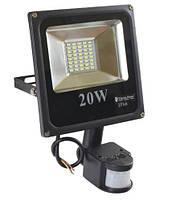 LED прожектор с датчиком движения 20W IP65 ElectroHouse