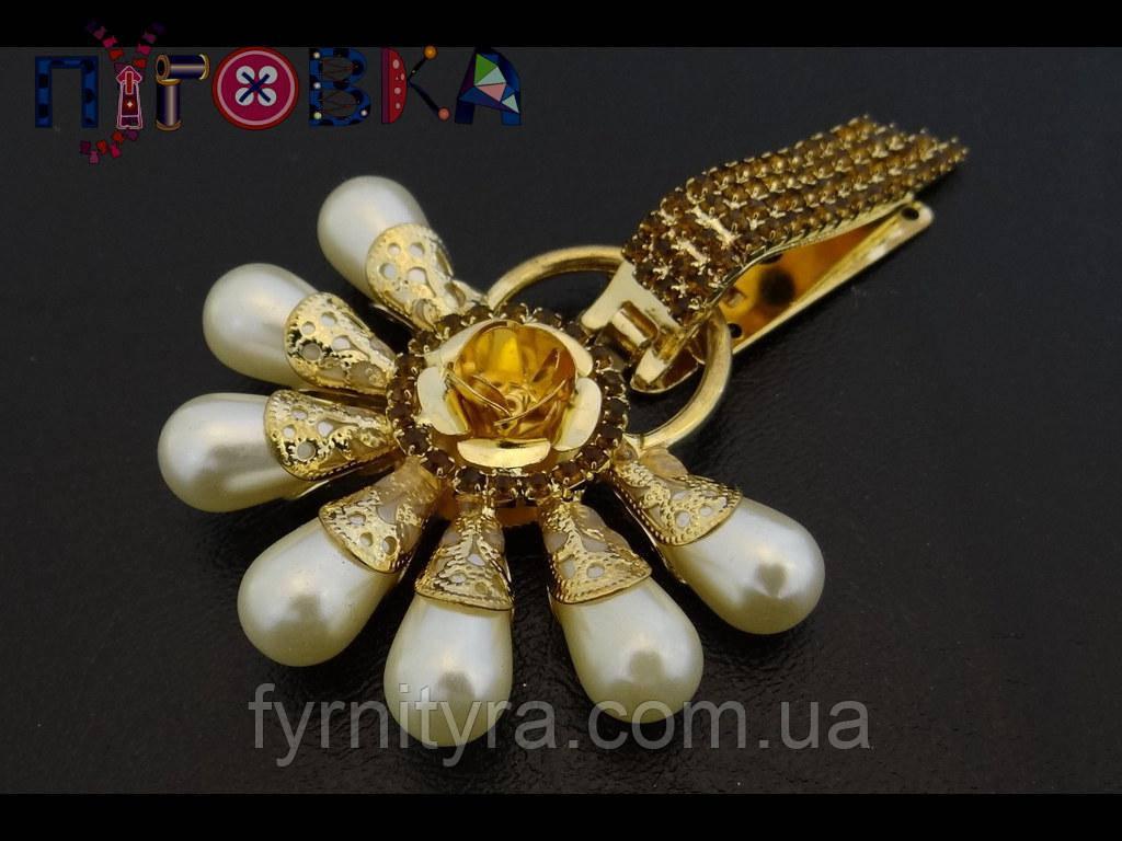Клипса шубная (шубный крючек) 033, gold