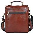 Шикарная мужская кожаная сумка S.J.D. 1016Х, цвет коричневый., фото 2