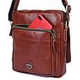 Шикарная мужская кожаная сумка S.J.D. 1016Х, цвет коричневый., фото 4