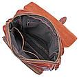 Шикарная мужская кожаная сумка S.J.D. 1016Х, цвет коричневый., фото 5
