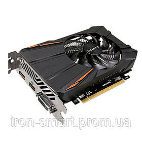 Видеокарта Radeon RX 560 OC, Gigabyte, 4Gb DDR5, 128-bit, DVI/HDMI/DP, 1199/7000MHz (GV-RX560OC-4GD)