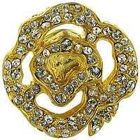 Ручка-кнопка Giusti Chandra золото и Swarovski