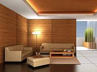 Облицовка деревянная интерьера комнаты