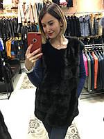 Норковая Жилетка Черная 70см  0417ЕИШ
