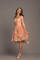 """Красивое платье """"Cynthia"""" из кружевной ткани с пышной юбкой (1 цвет)"""