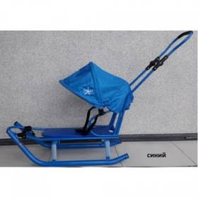 Санки Anmar Active (рег.ручка+капюшон) синий