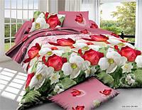 Полуторный набор постельного белья 150*220 Полиэстер №154 Черешенка™