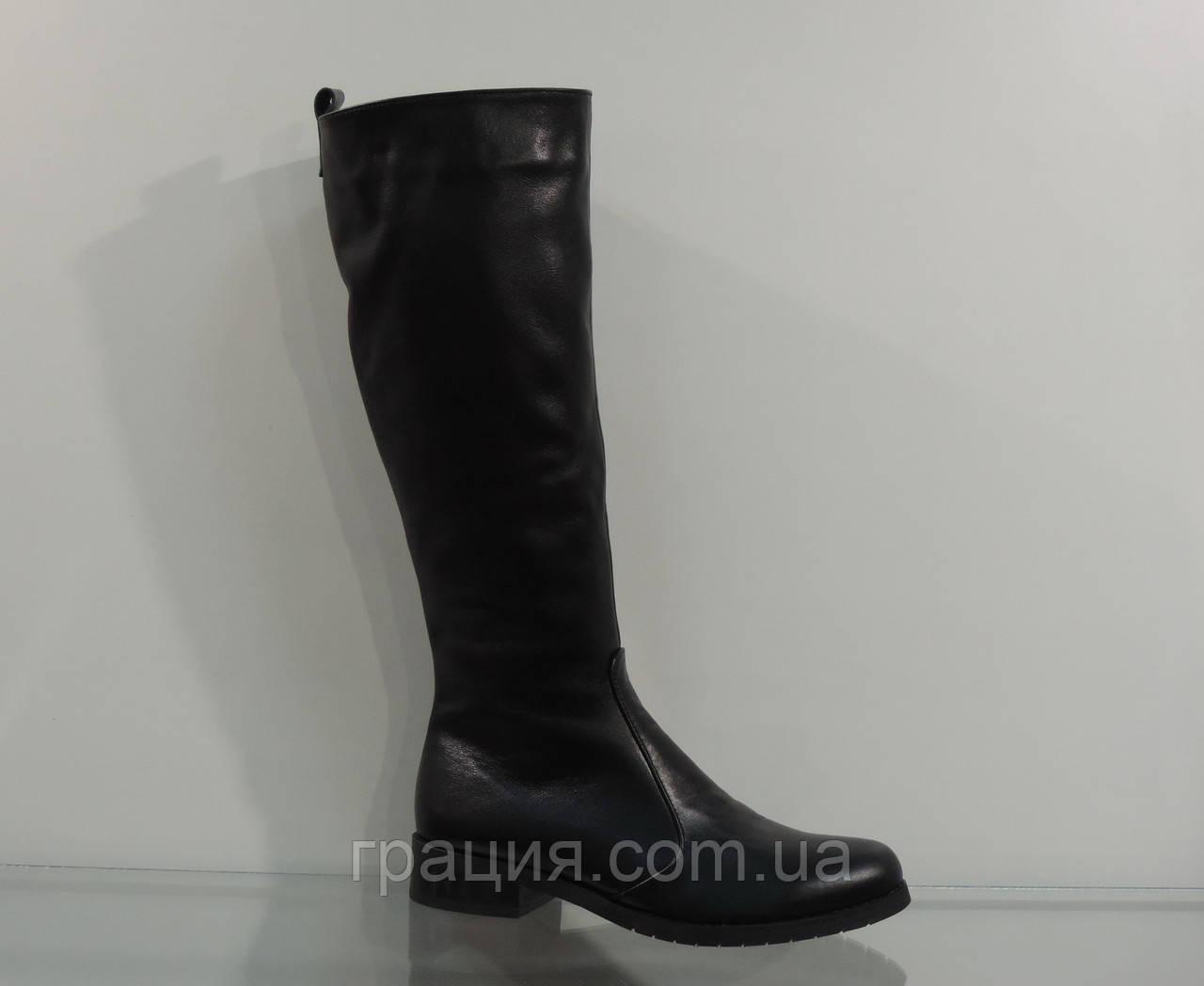 Зимние женские кожаные сапоги