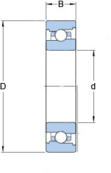Прецизионный шарикоподшипник - схема