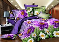 Полуторный набор постельного белья 150*220 Полиэстер №165 Черешенка™