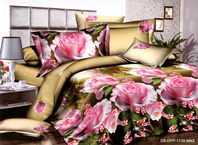 Полуторный набор постельного белья 150*220 Полиэстер №187 Черешенка™