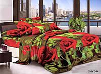Полуторный набор постельного белья 150*220 Полиэстер №161 Черешенка™