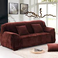 """Чехол замшевый на трехместный диван  """"HomyTex"""" Китай. Цвет в ассортименте"""