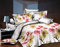Полуторный набор постельного белья 150*220 Полиэстер №163 Черешенка™