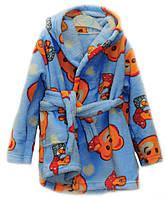 Махровый  тёплый детский халат для девочки, мальчика