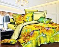 Полуторный набор постельного белья 150*220 Полиэстер №166 Черешенка™