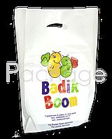 "Пакеты ""банан"" с логотипом 40Х50, 50 мкм"